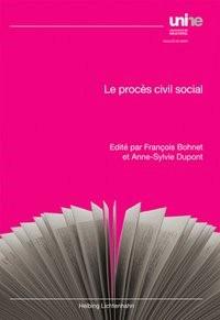 Le procès civil social   Bohnet / Dupont, 2018   Buch (Cover)