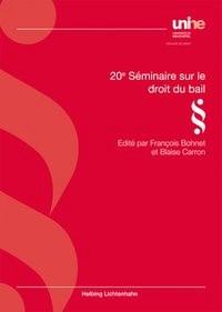 20e séminaire sur le droit du bail | Bohnet / Carron, 2018 | Buch (Cover)