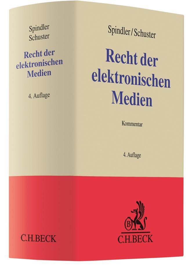 Recht der elektronischen Medien   Spindler / Schuster   4. Auflage, 2019   Buch (Cover)