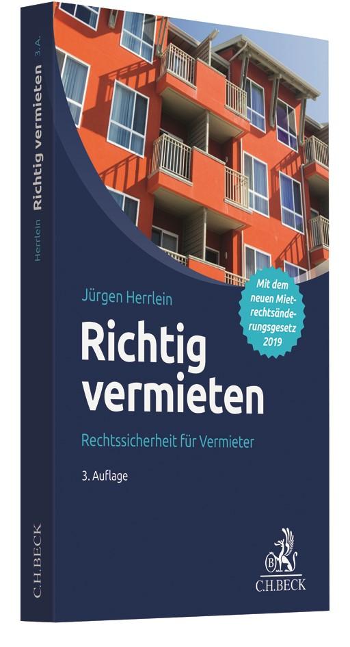Abbildung von Herrlein | Richtig vermieten | 3. Auflage | 2019