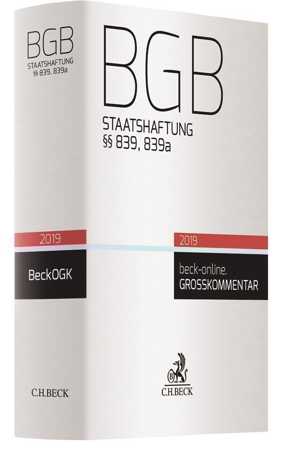 BGB Staatshaftung §§ 839, 839a BGB, 2018 | Buch (Cover)