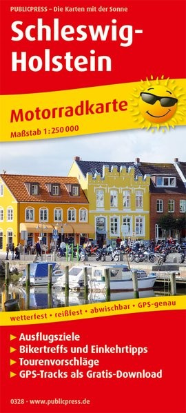 Motorradkarte Schleswig-Holstein 1:250 000 | 6. Auflage, 2018 (Cover)