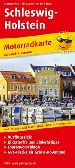 Abbildung von Motorradkarte Schleswig-Holstein 1:250 000 | 6. Auflage | 2018 | Mit Ausflugszielen, Einkehr- &...