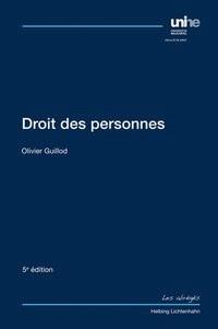 Droit des personnes | Guillod | 5. Auflage, 2018 | Buch (Cover)