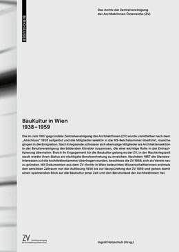 Abbildung von Holzschuh / Zentralvereinigung d. Arch. Österreichs   BauKultur in Wien 1938–1959   2018   Das Archiv der Zentralvereinig...