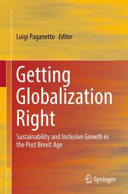 Abbildung von Paganetto   Getting Globalization Right   1. Auflage   2018   beck-shop.de