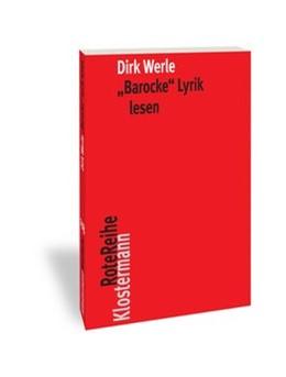 Abbildung von Werle | 'Barocke' Lyrik lesen | 2019 | 2019 | 112