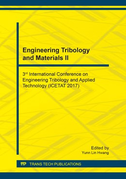 Abbildung von Hwang   Engineering Tribology and Materials II   1. Auflage   2018   Volume 883   beck-shop.de
