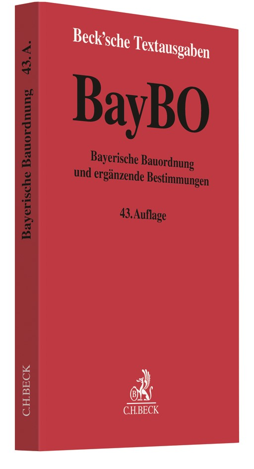 Bayerische Bauordnung: BayBO | 43. Auflage, 2018 | Buch (Cover)