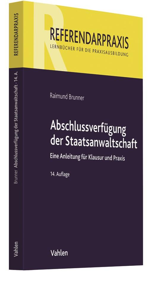 Abbildung von Brunner   Abschlussverfügung der Staatsanwaltschaft   14. Auflage   2019