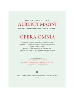 Abbildung von Magnus / Donati | Alberti Magni opera omnia / De Nutrimento et Nutrito. De Sensu et Sensato. Suius secundus liber est de Memoria et Reminiscentia | 1. Auflage | 2017 | beck-shop.de