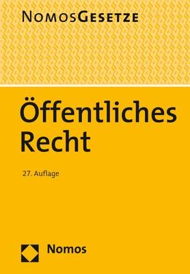 Öffentliches Recht | 27. Auflage, 2018 | Buch (Cover)