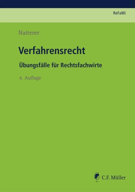 Verfahrensrecht   Natterer   4., neu bearbeitete Auflage, 2018   Buch (Cover)
