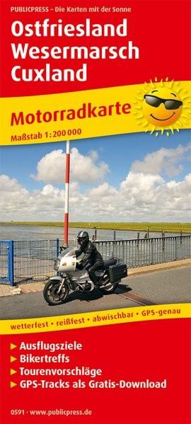 Motorradkarte Ostfriesland - Wesermarsch - Cuxland 1:200 000 | 2. Auflage, 2018 (Cover)