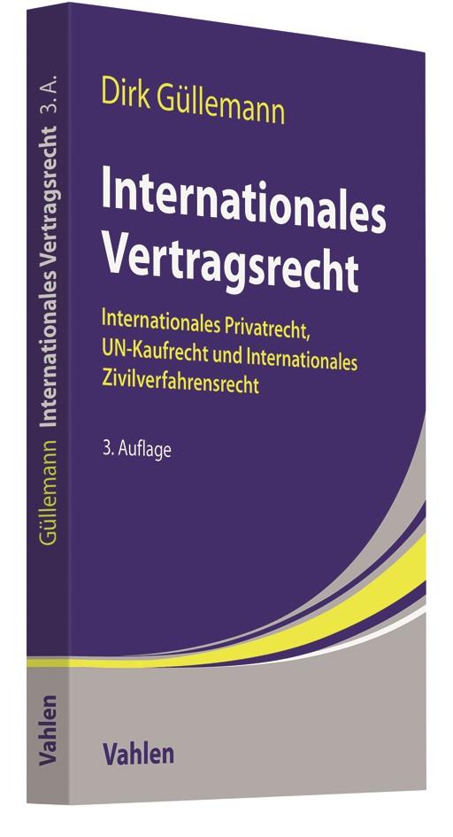 Internationales Vertragsrecht | Güllemann | 3. Auflage, 2018 | Buch (Cover)