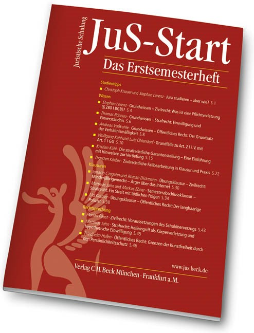 JuS-Start, 2008 (Cover)