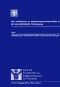 Von institutions- zu personenzentrierten Hilfen in der psychiatrischen Versorgung | / Kruckenberg / Kunze / Brill / Crome / Gromann / Hölzke / Krüger / Stahlkopf, 1999 | Buch (Cover)