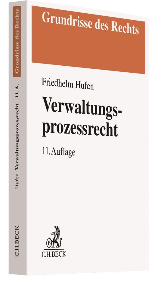 Verwaltungsprozessrecht   Hufen   11. Auflage, 2019   Buch (Cover)