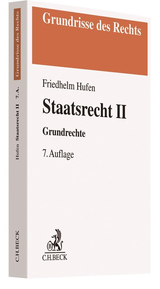 Staatsrecht II | Hufen | 7., aktualisierte und überarbeitete Auflage, 2018 | Buch (Cover)