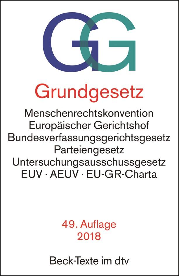 Grundgesetz: GG | 49. Auflage, 2018 | Buch (Cover)