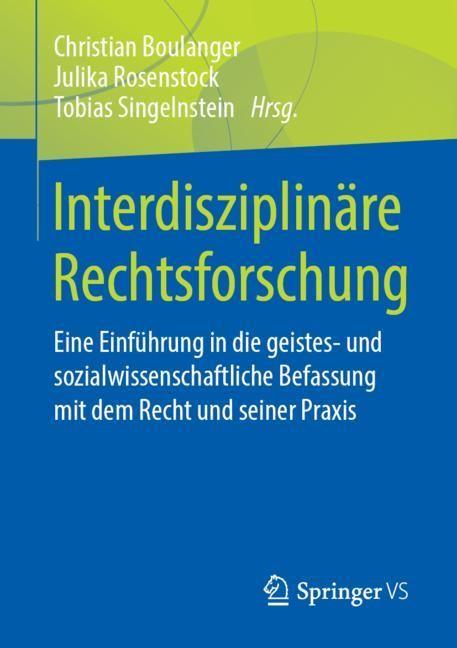 Interdisziplinäre Rechtsforschung   Boulanger / Rosenstock / Singelnstein, 2019   Buch (Cover)