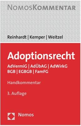 Abbildung von Reinhardt / Kemper / Weitzel | Adoptionsrecht | 3. Auflage | 2019 | AdVermiG | AdÜbAG | AdWirkG | ...