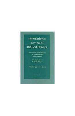 Abbildung von Lang | International Review of Biblical Studies, Volume 49 (2002-2003) | 2004 | (2002-2003) | 49