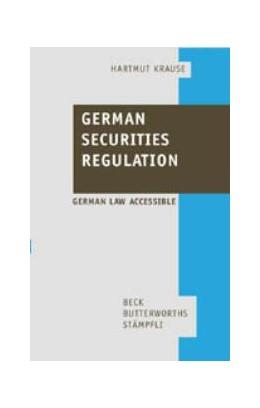 Abbildung von Krause | German Securities Regulation | 2001 | Deutsch-englische Textsammlung...