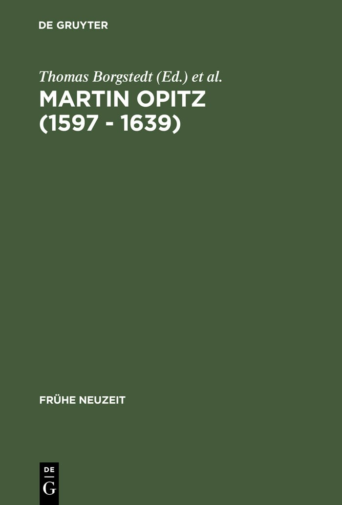 Martin Opitz (1597 - 1639)   Borgstedt / Schmitz   Reprint 2013, 2002   Buch (Cover)