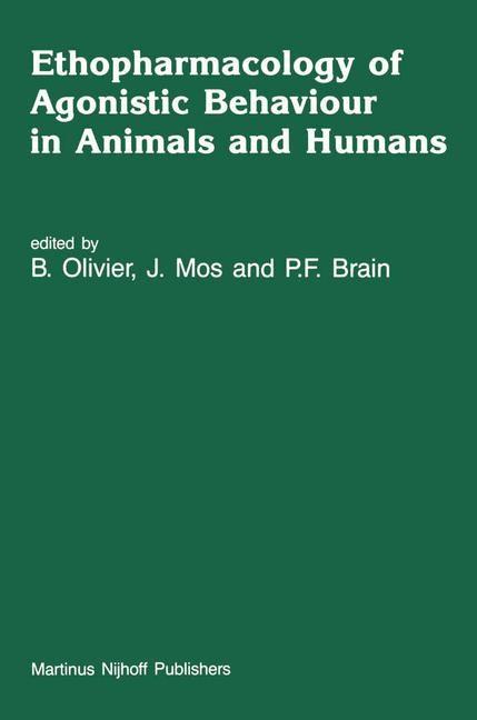 Abbildung von Olivier / Mos / Brain   Ethopharmacology of Agonistic Behaviour in Animals and Humans   1987