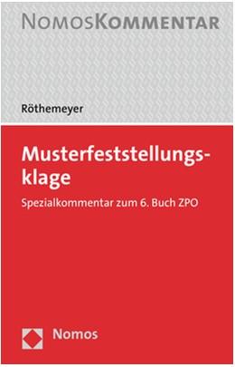 Abbildung von Röthemeyer   Musterfeststellungsklage   2019   Spezialkommentar zu den §§ 606...