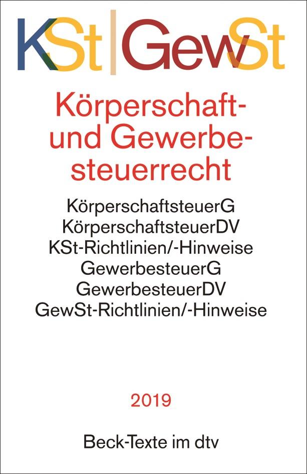Abbildung von Körperschaftsteuerrecht/Gewerbesteuerrecht: KSt/GewSt   2019