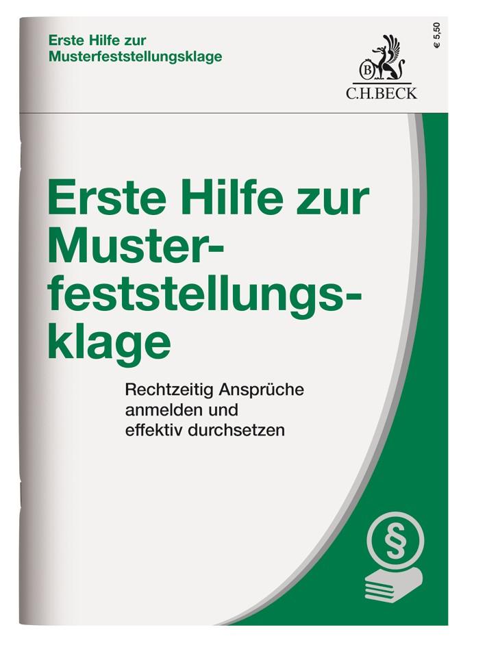 Erste Hilfe zur Musterfeststellungsklage, 2018 | Buch (Cover)