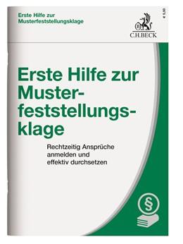 Abbildung von Erste Hilfe zur Musterfeststellungsklage | 1. Auflage | 2018 | beck-shop.de