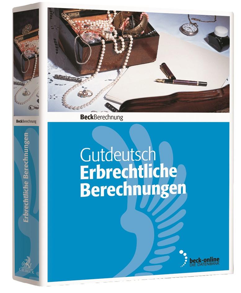 Erbrechtliche Berechnungen - Edition 2018 | Gutdeutsch (Cover)