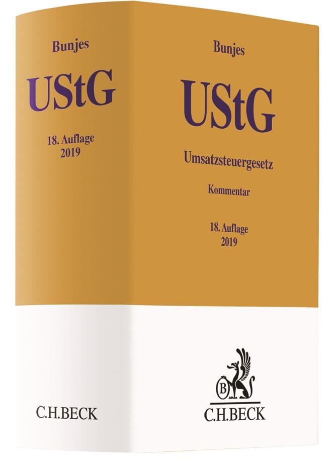 Umsatzsteuergesetz: UStG | Bunjes | 18. Auflage, 2019 | Buch (Cover)