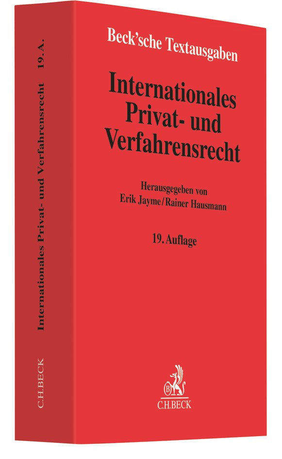 Internationales Privat- und Verfahrensrecht | Jayme / Hausmann | 19., neubearbeitete und erweiterte Auflage, 2018 | Buch (Cover)