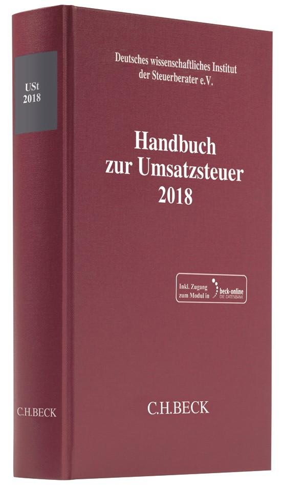 Handbuch zur Umsatzsteuer 2018: USt 2018, 2019 | Buch (Cover)