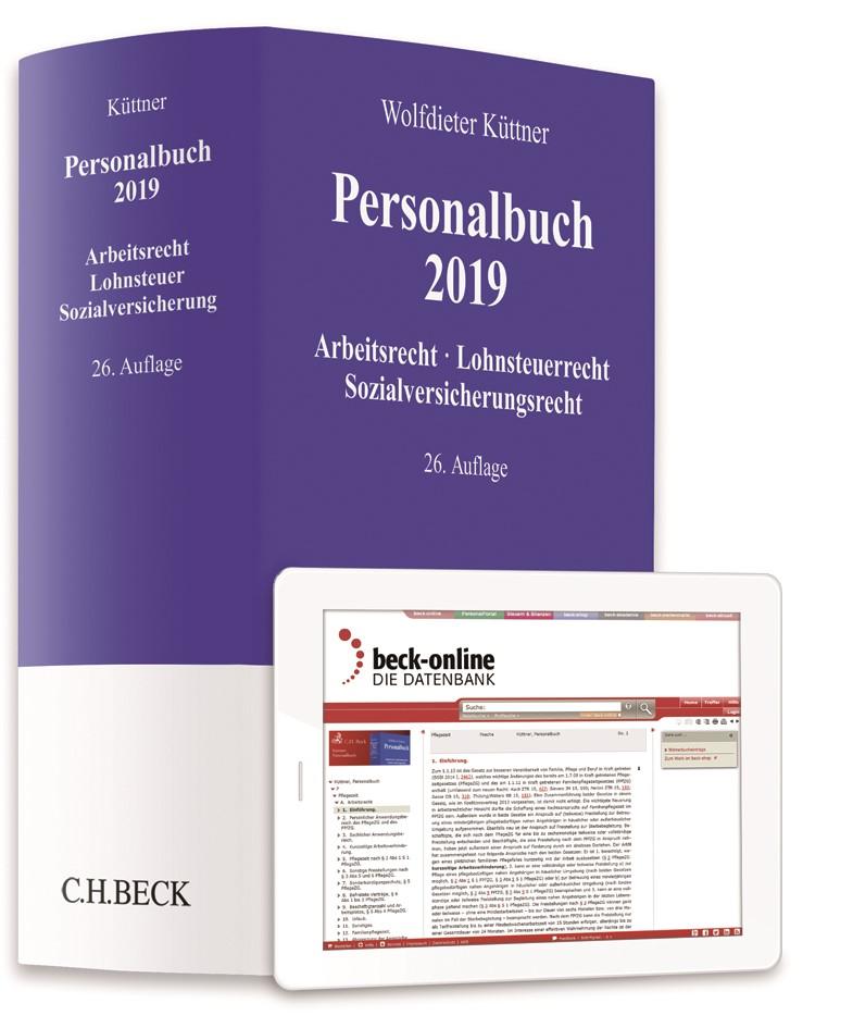 Abbildung von Küttner   Personalbuch 2019   26., vollständig neubearbeitete Auflage   2019