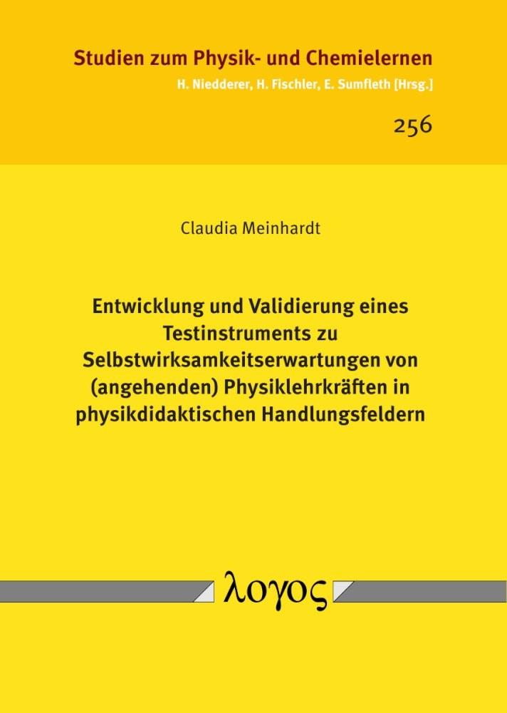 Abbildung von Meinhardt   Entwicklung und Validierung eines Testinstruments zu Selbstwirksamkeitserwartungen von (angehenden) Physiklehrkräften in physikdidaktischen Handlungsfeldern   2018
