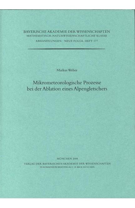 Cover: Markus Weber, Mikrometeorologische Prozesse bei der Ablation eines Alpengletschers