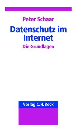 Abbildung von Schaar | Datenschutz im Internet | 2002 | Die Grundlagen