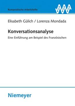 Abbildung von Gülich / Mondada | Konversationsanalyse | 2008 | Eine Einführung am Beispiel de... | 52