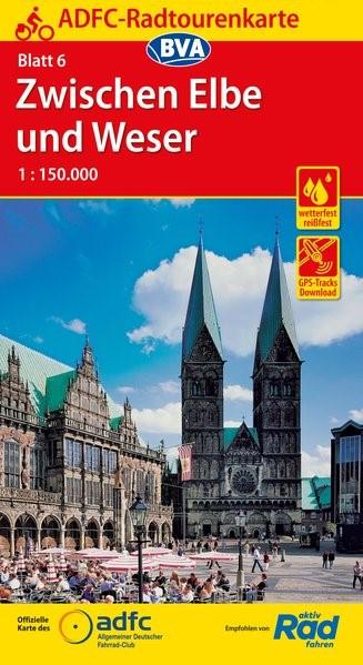ADFC-Radtourenkarte 06 Zwischen Elbe und Weser 1 : 150 000   11. Auflage, 2018 (Cover)