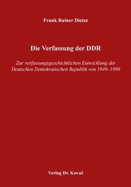 Abbildung von Dietze | Die Verfassung der DDR | 2018 | Zur verfassungsgeschichtlichen... | 141