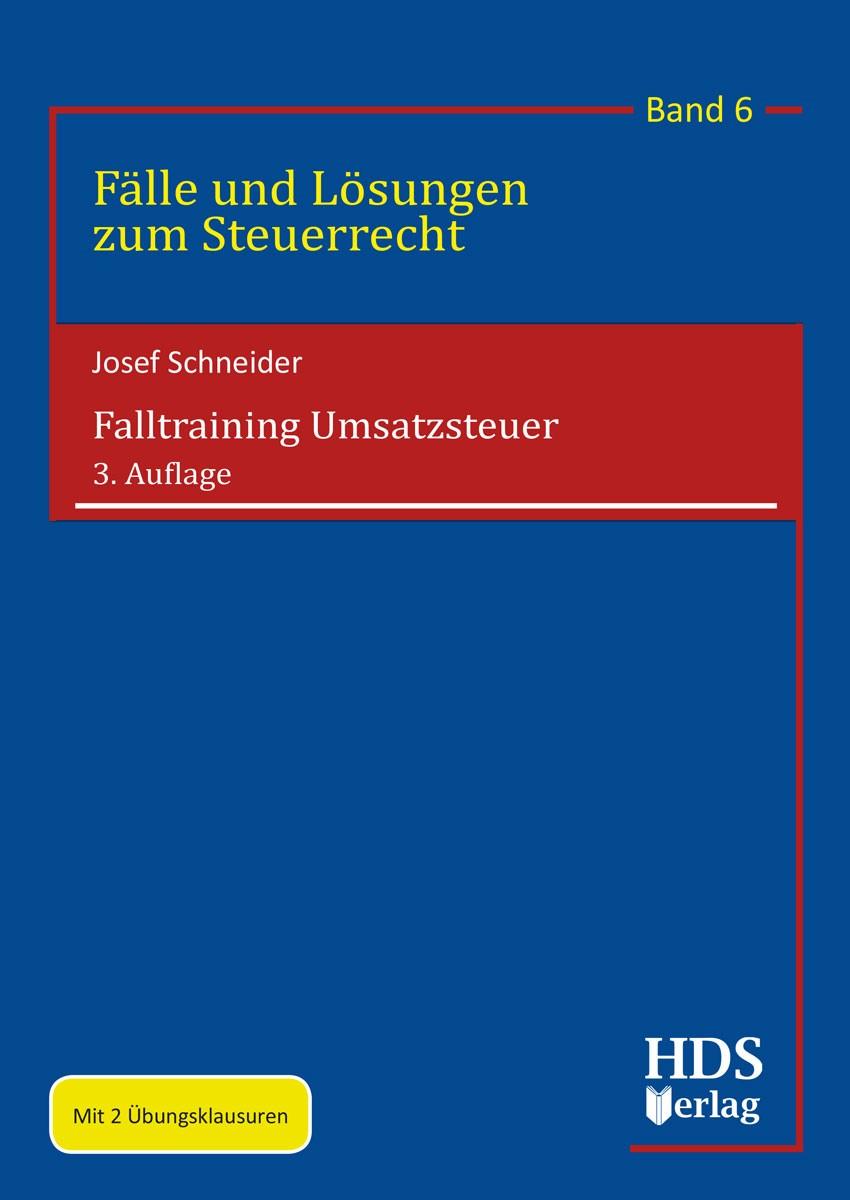 Falltraining Umsatzsteuer   Schneider   3. Auflage, 2018   Buch (Cover)