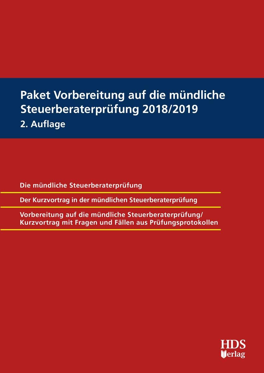 Abbildung von Barzen / Dauber / Dürr ua. | Paket Vorbereitung auf die mündliche Steuerberaterprüfung 2018/2019 | 2. Auflage | 2018