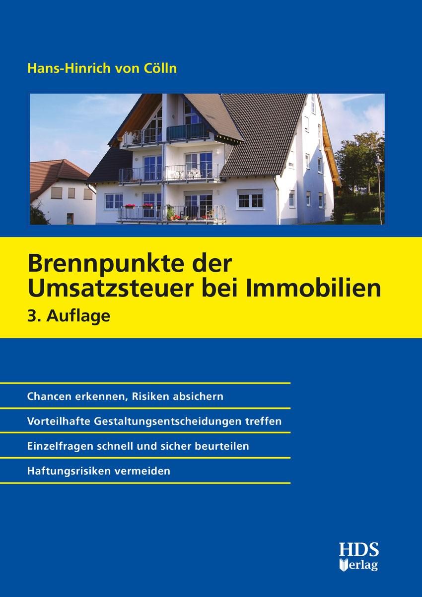 Brennpunkte der Umsatzsteuer bei Immobilien | von Cölln | 3. Auflage, 2019 | Buch (Cover)