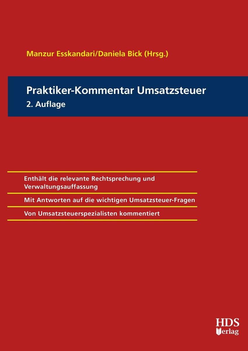Praktiker-Kommentar Umsatzsteuer | Esskandari / Bick (Hrsg.) | 2. Auflage, 2018 | Buch (Cover)