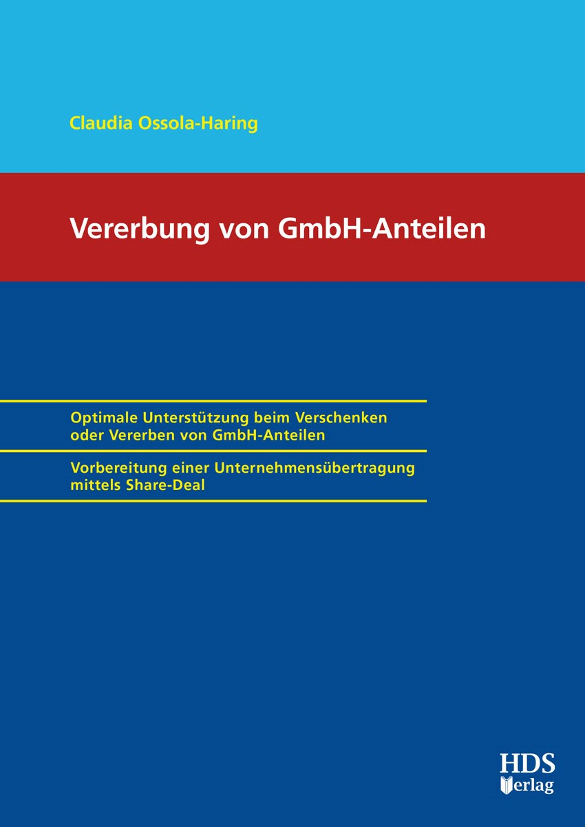 Vererbung von GmbH-Anteilen   Ossola-Haring, 2019   Buch (Cover)